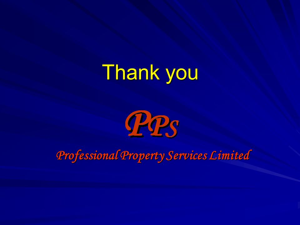 Thank you Professional Property Services Limited