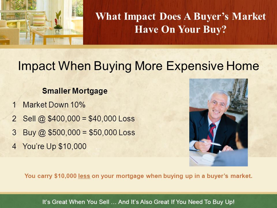 Its Great When You Sell … And Its Also Great If You Need To Buy Up! What Impact Does A Buyers Market Have On Your Buy? Impact When Buying More Expensi