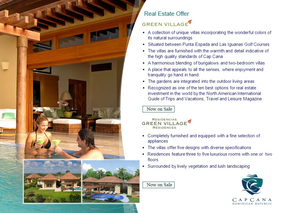 A collection of unique villas incorporating the wonderful colors of its natural surroundings Situated between Punta Espada and Las Iguanas Golf Course