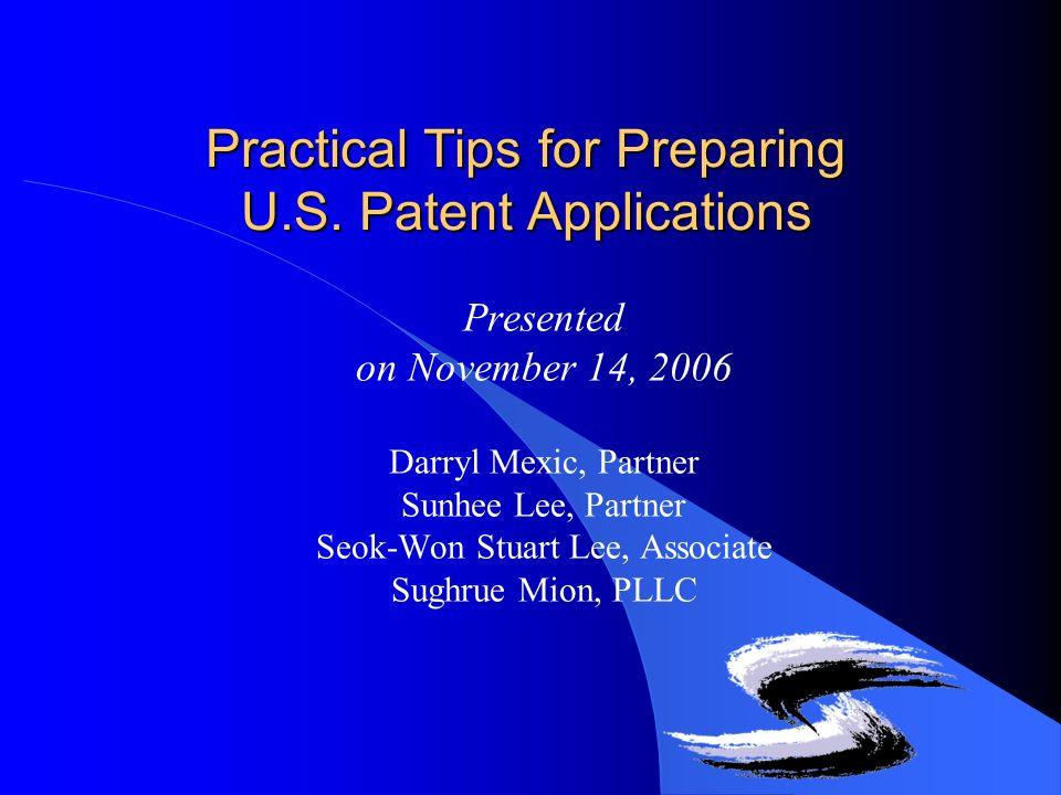 Practical Tips for Preparing U.S.