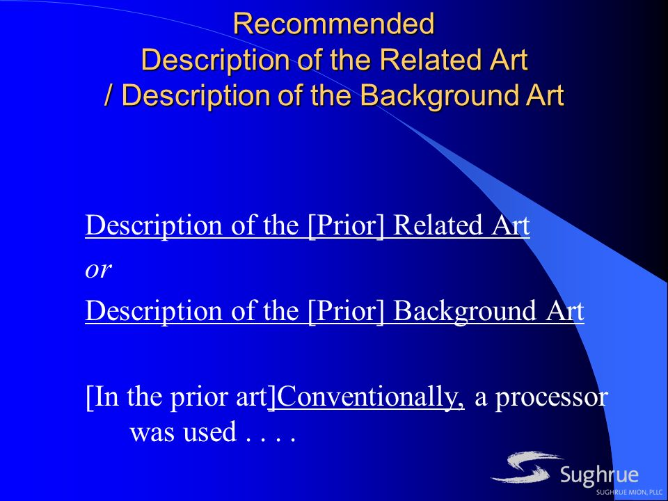 Recommended Description of the Related Art / Description of the Background Art Description of the [Prior] Related Art or Description of the [Prior] Background Art [In the prior art]Conventionally, a processor was used....