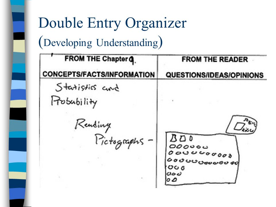 Double Entry Organizer ( Developing Understanding )
