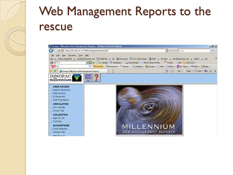 Web Management Reports to the rescue