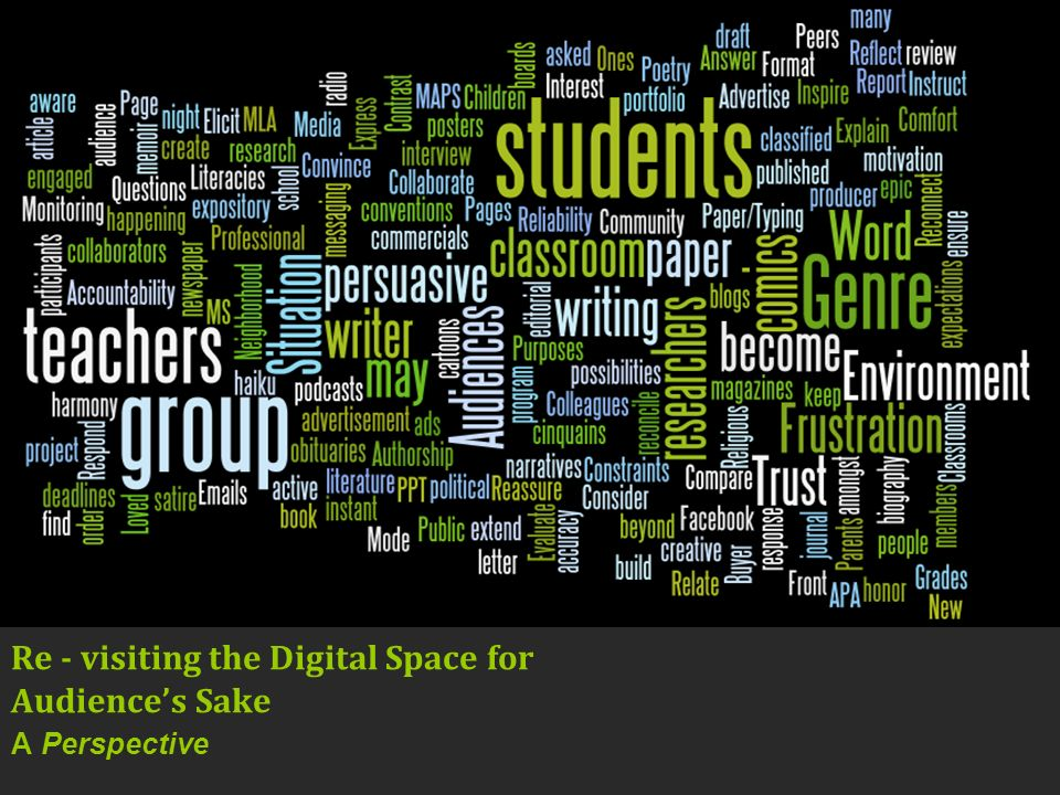 Re - visiting the Digital Space for Audiences Sake A Perspective
