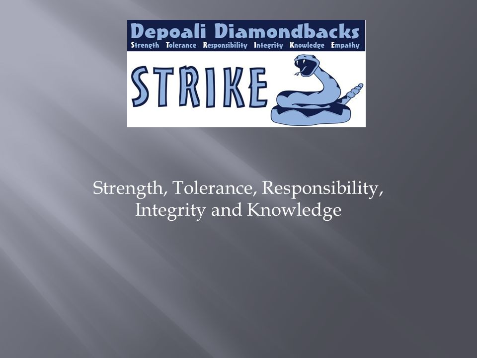 Strength, Tolerance, Responsibility, Integrity and Knowledge