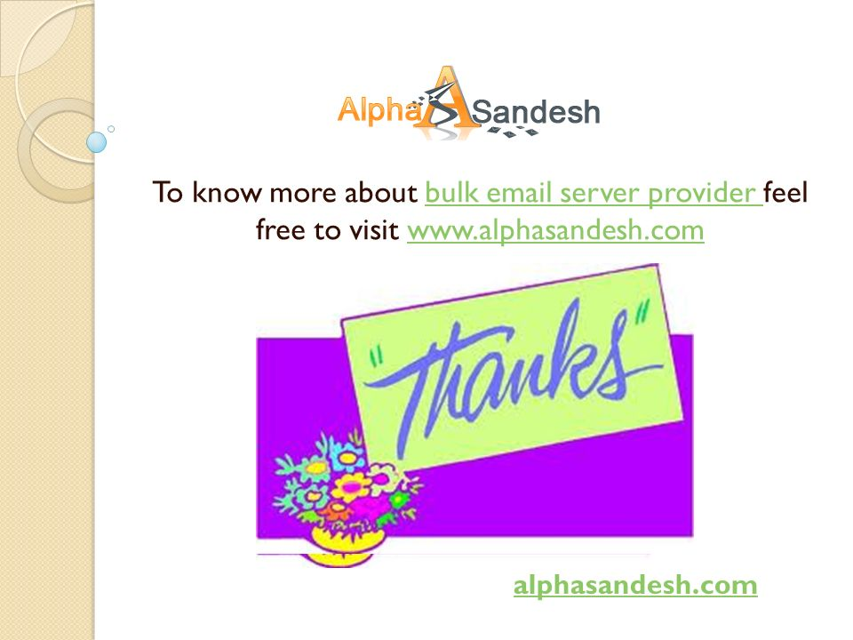 To know more about bulk  server provider feel free to visit    server provider   alphasandesh.com