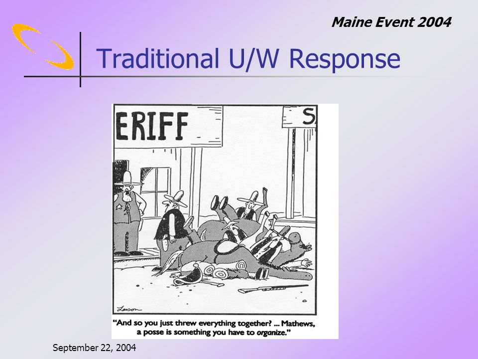 September 22, 2004 Maine Event 2004 Game Theory Interesting, but… N-player, non-zero sum, cooperative games are poorly understood.
