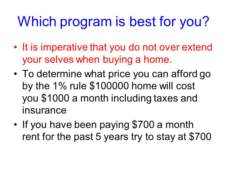 Which program is best for you.