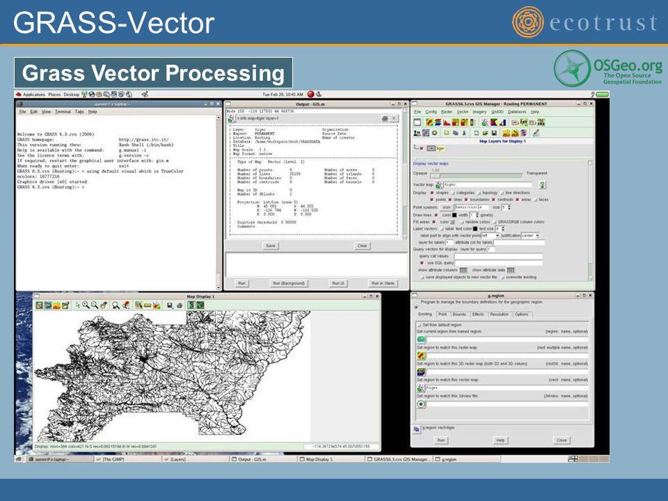 GRASS-Vector Grass Vector Processing