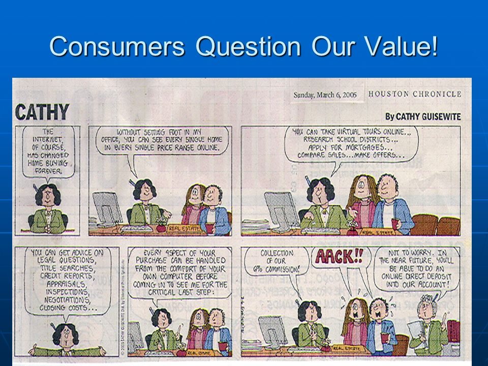 Consumers Question Our Value!