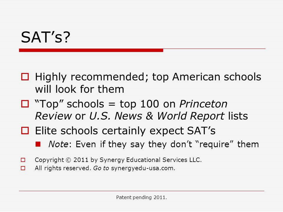 Patent pending 2011. SATs.