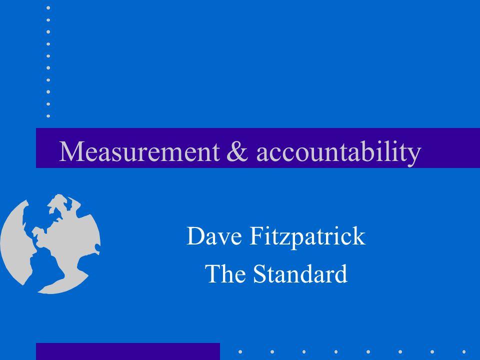 Measurement & accountability Dave Fitzpatrick The Standard