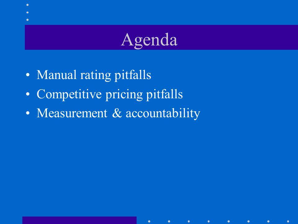 Manual rating pitfalls Rick Leavitt Smith Group