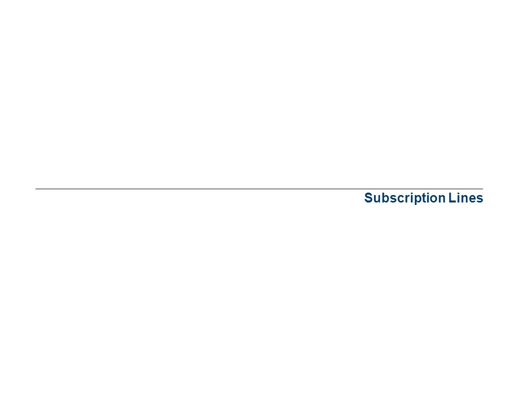 Subscription Lines