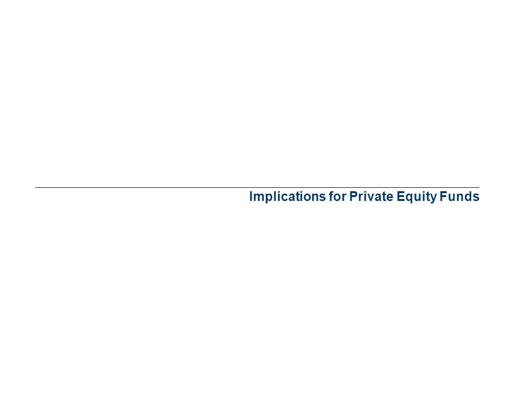 Implications for Private Equity Funds