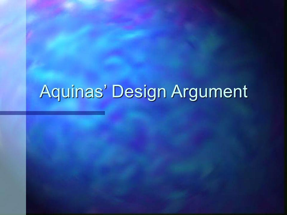 Aquinas Design Argument