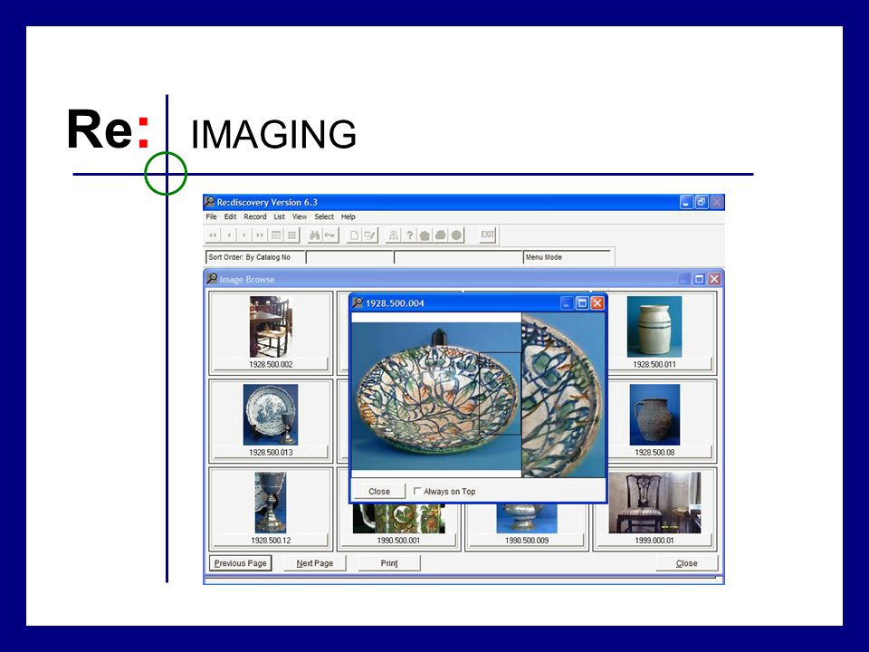 Re : IMAGING