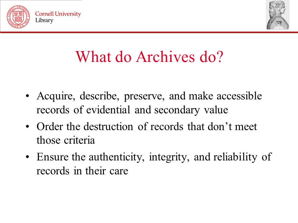 Threat to long-term access Archives keep things for a long time… How do you preserve an electronic file that cant be copied or opened.