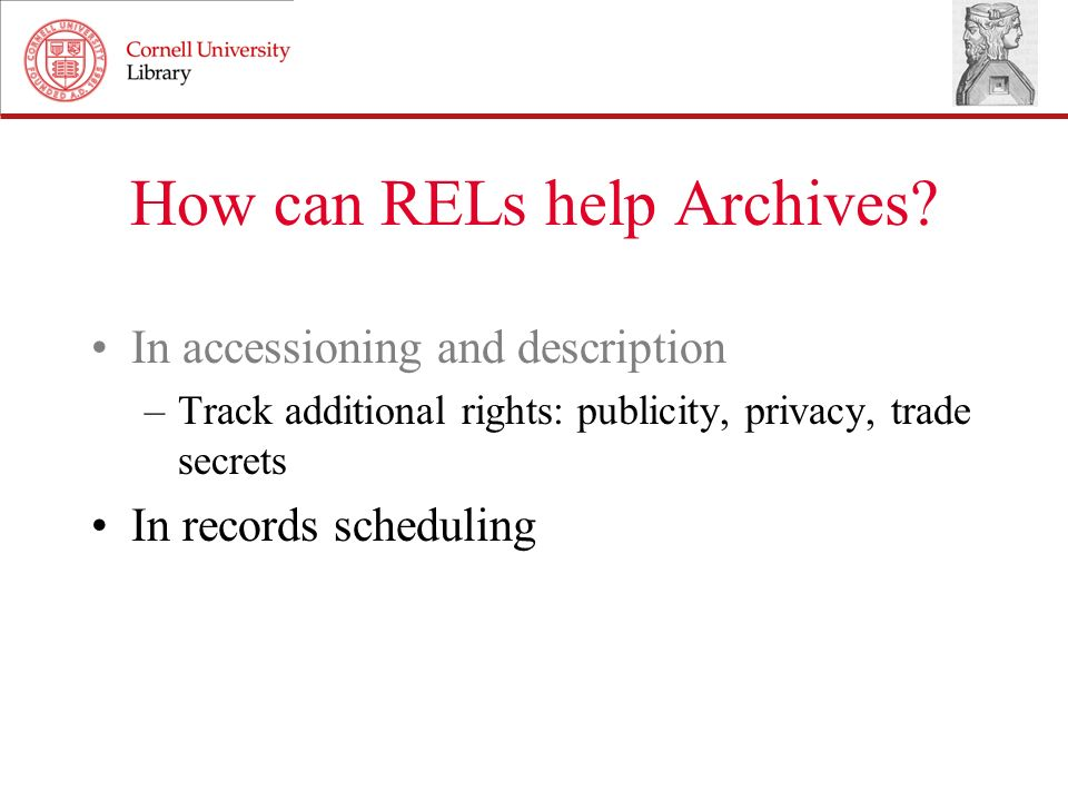 How can RELs help Archives.