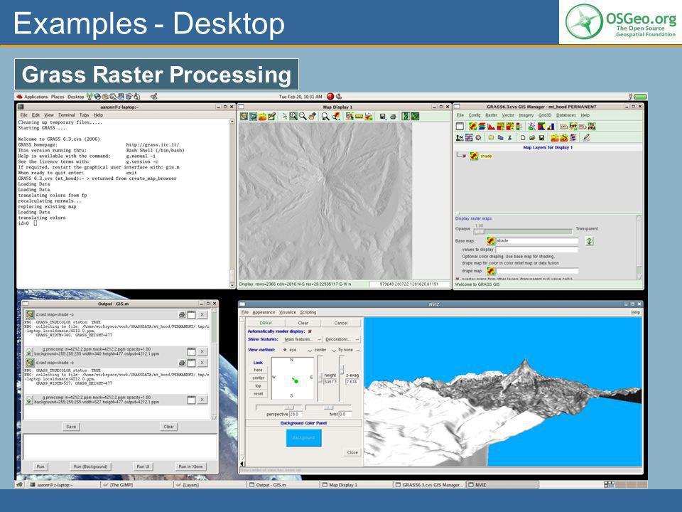 Examples - Desktop Grass Raster Processing