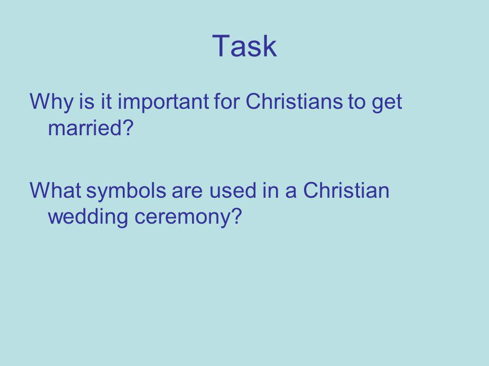 Task Why is it important for Christians to get married.