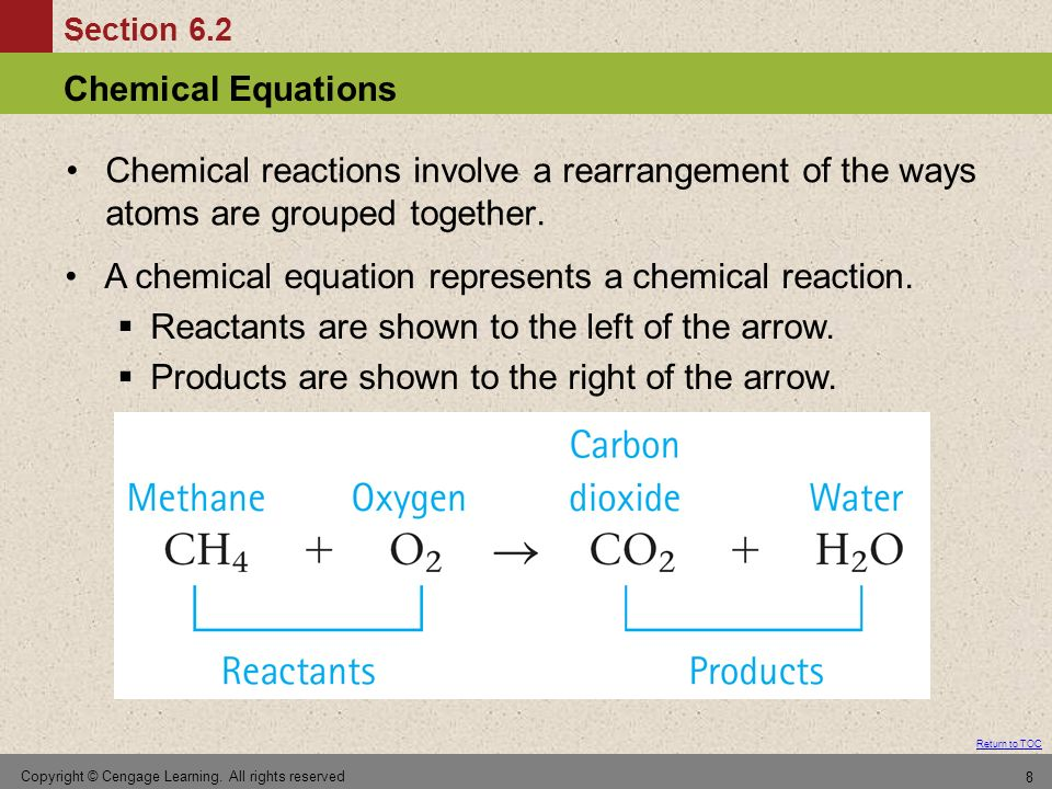 Section 6.3 Balancing Chemical Equations Return to TOC Copyright © Cengage Learning.