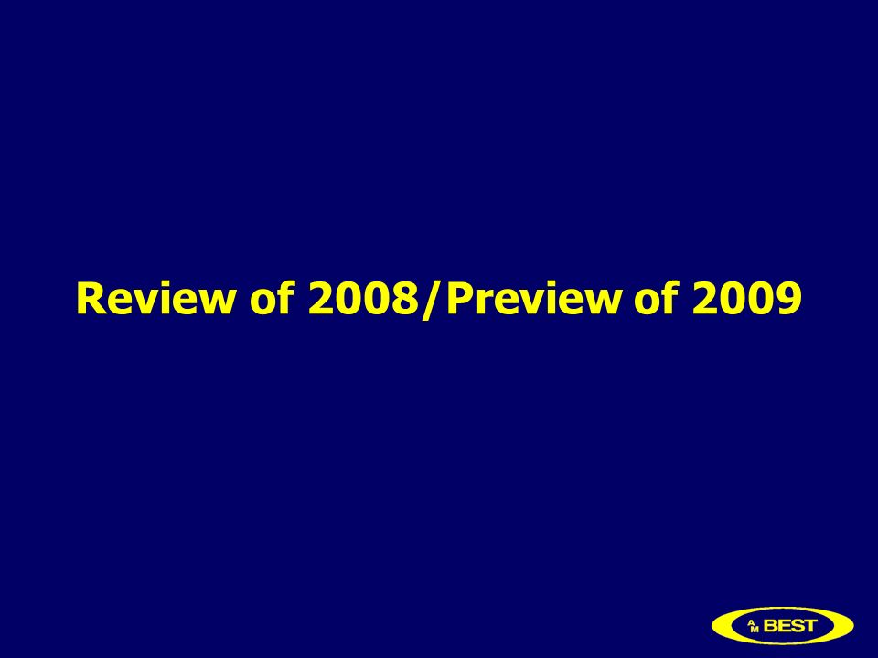 Review of 2008/Preview of 2009