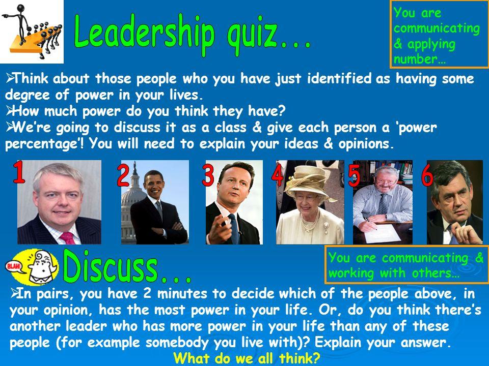 Mr Phillips – Headmaster of West Mon School Gordon Brown – Prime Minister of the United Kingdom