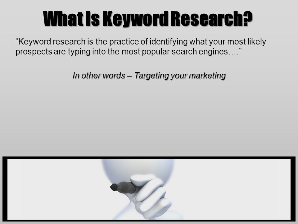 What Is Keyword Research.