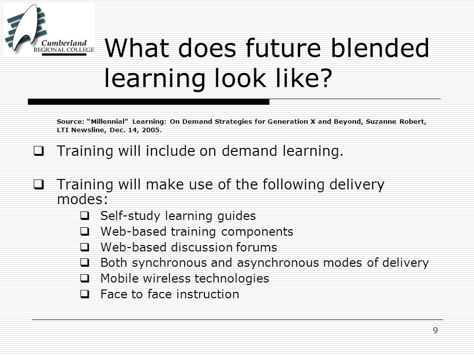 9 What does future blended learning look like.