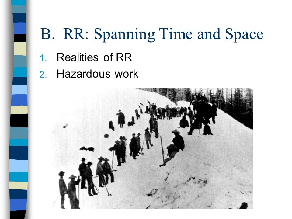 B. RR: Spanning Time and Space 1. Realities of RR 2. Hazardous work
