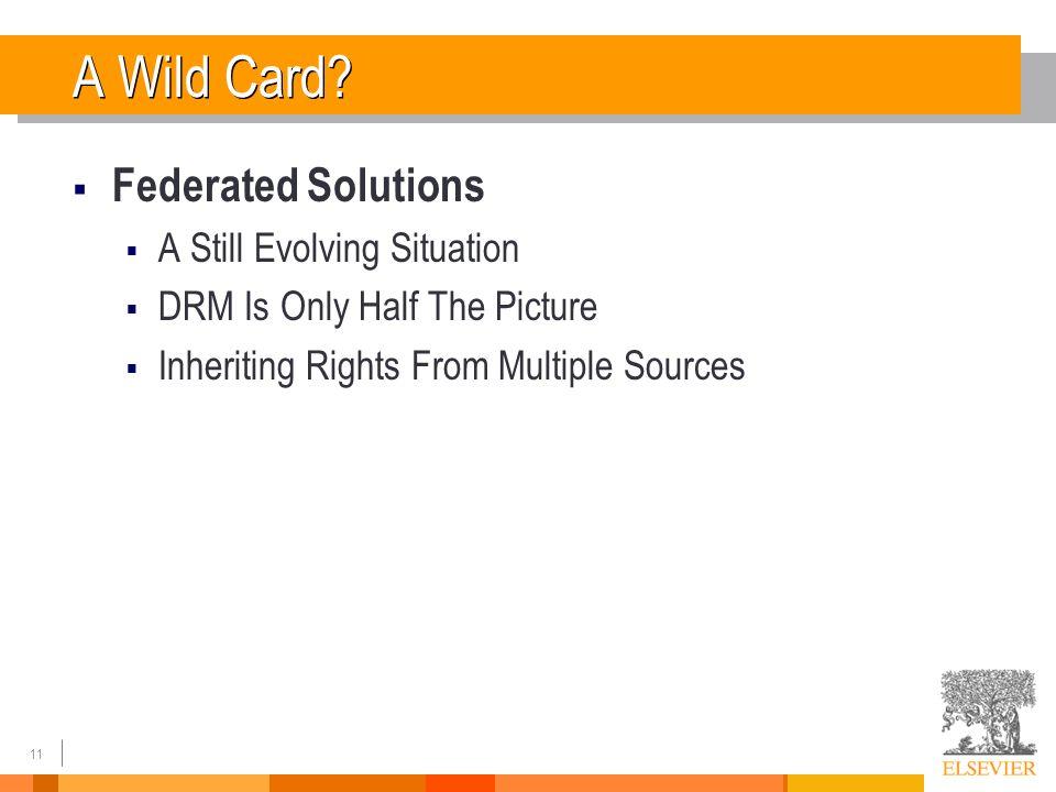 11 A Wild Card.