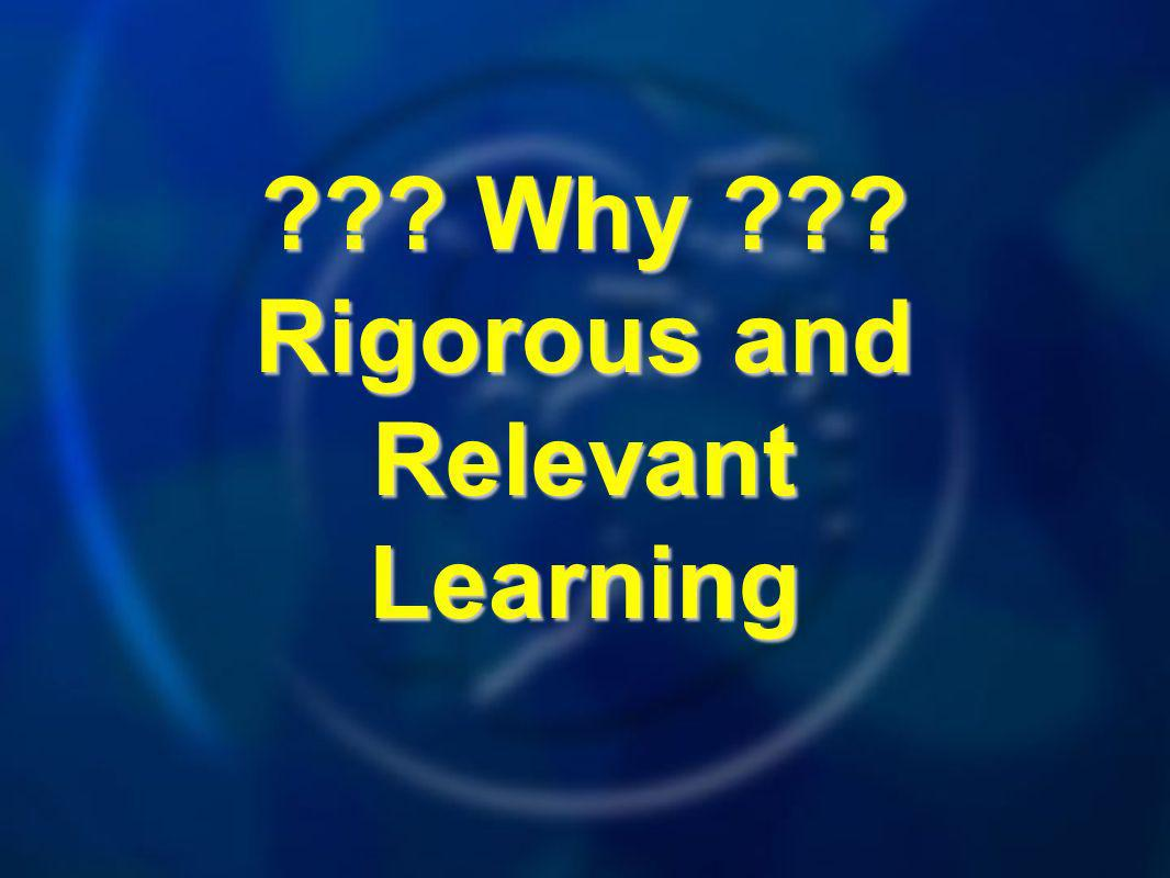 Why Rigorous and Relevant Learning