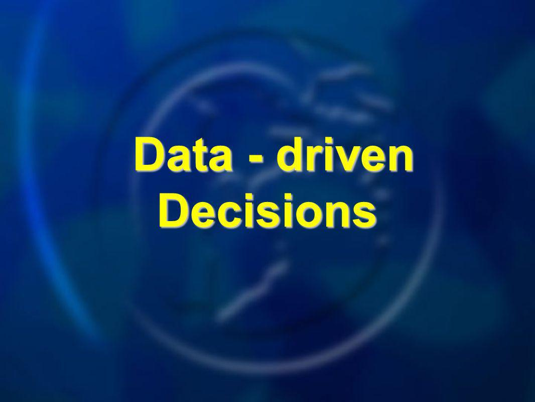 Data - driven Decisions Data - driven Decisions