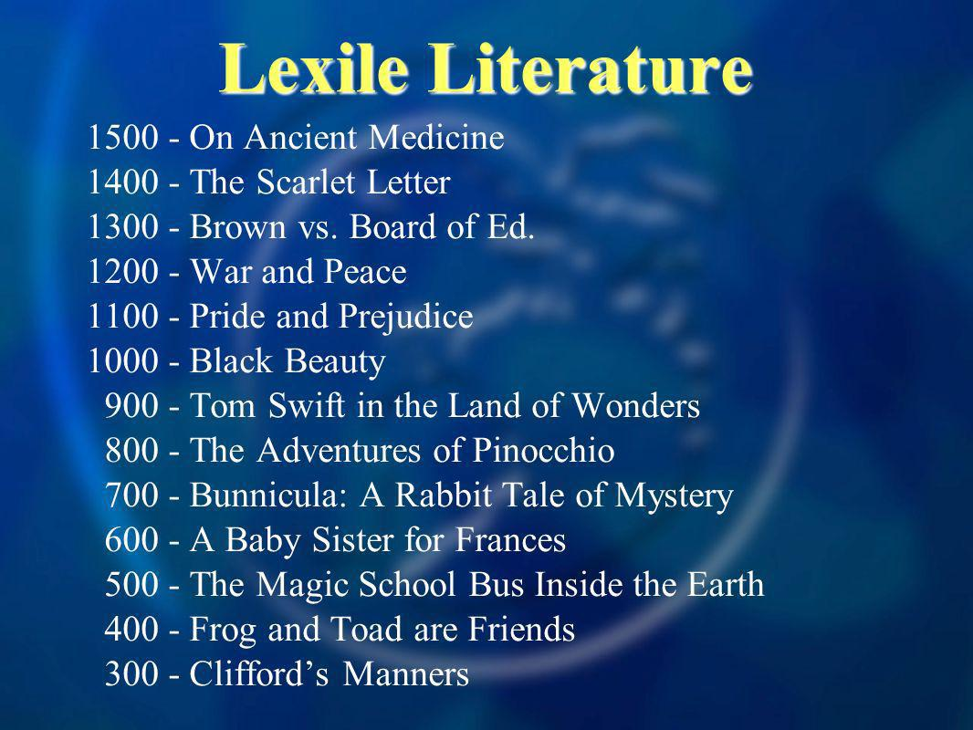 Lexile Literature On Ancient Medicine The Scarlet Letter Brown vs.