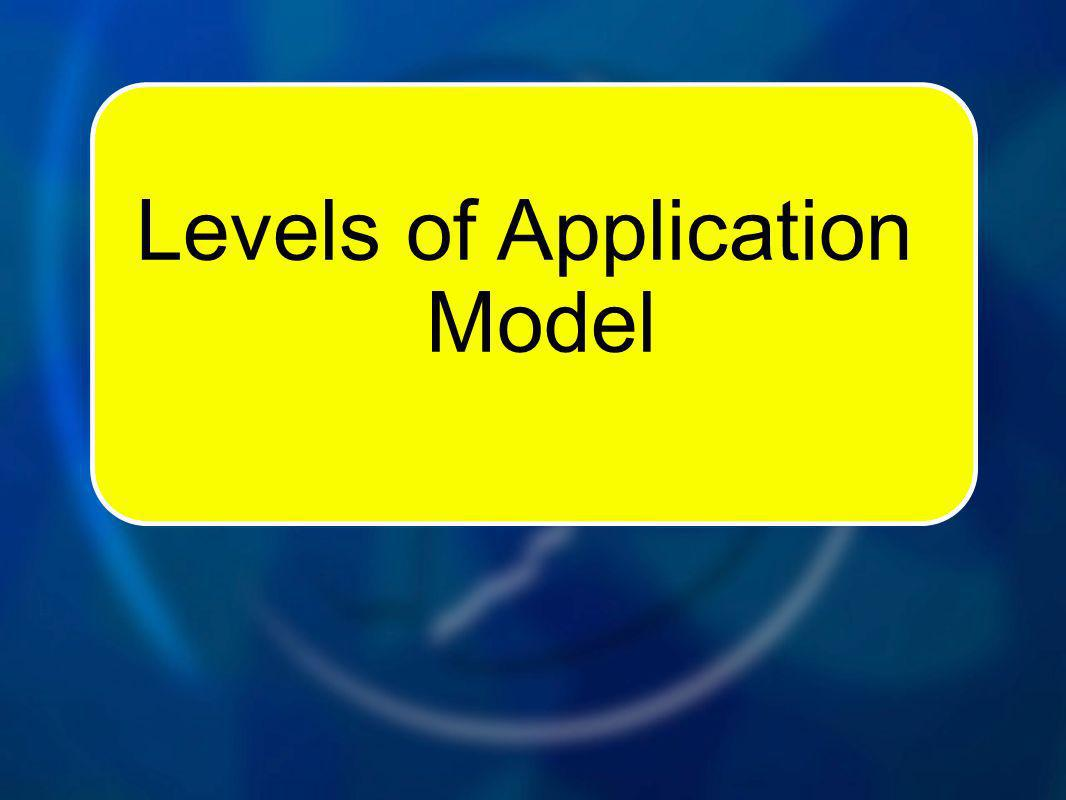 Levels of Application Model