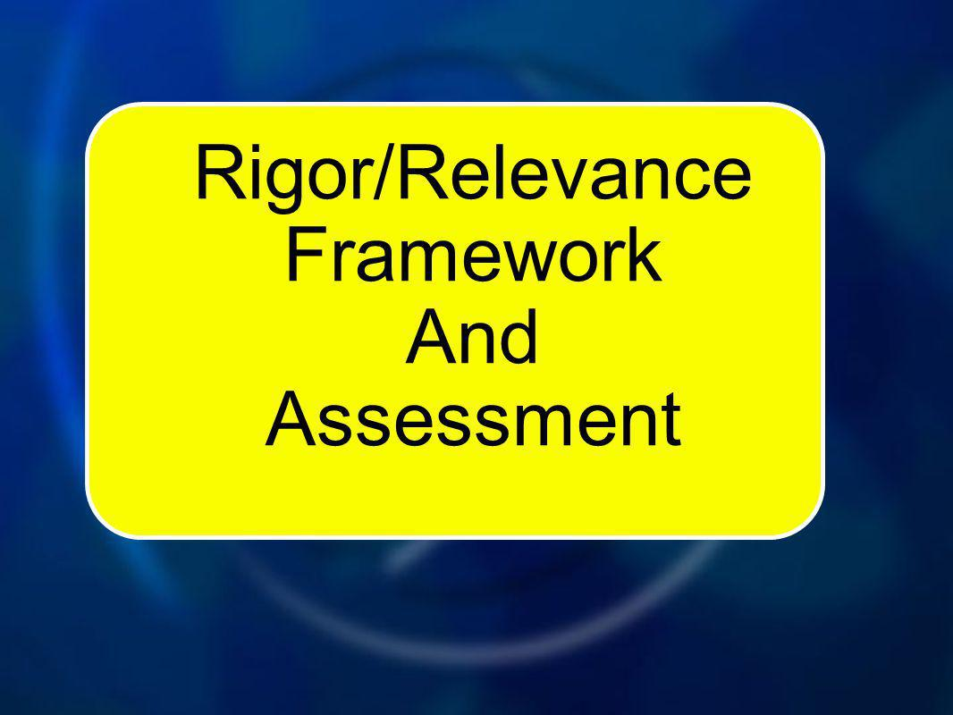 Rigor/Relevance Framework And Assessment