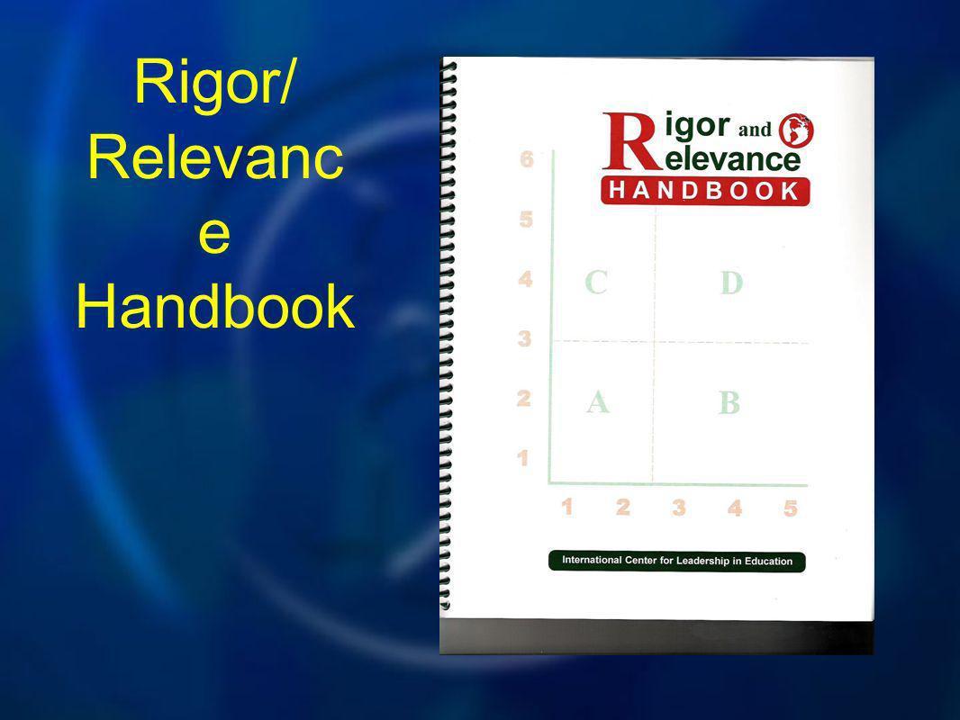 Rigor/ Relevanc e Handbook