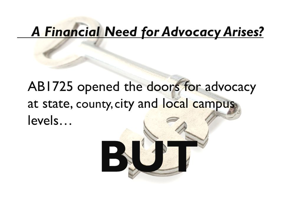 A Financial Need for Advocacy Arises.