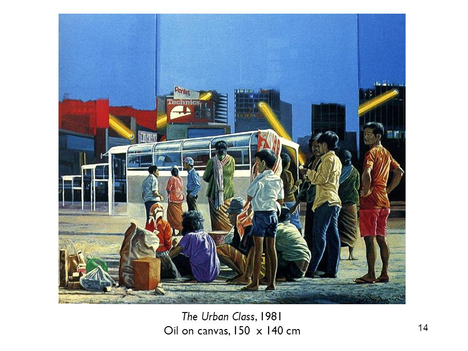 14 The Urban Class, 1981 Oil on canvas, 150 x 140 cm