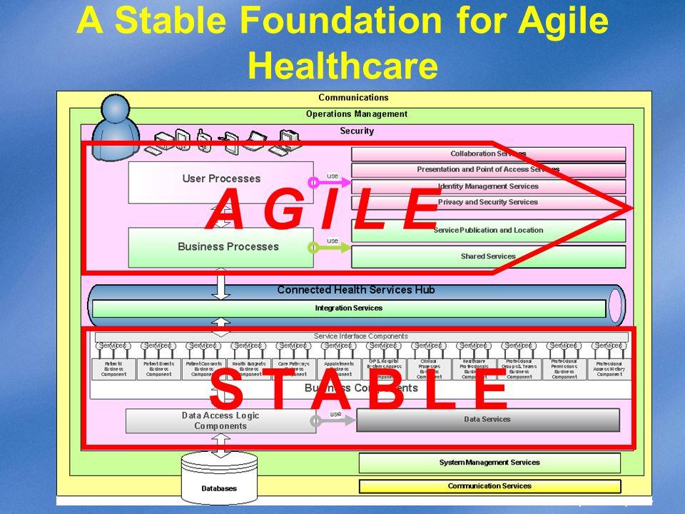 A Stable Foundation for Agile Healthcare S T A B L E A G I L E
