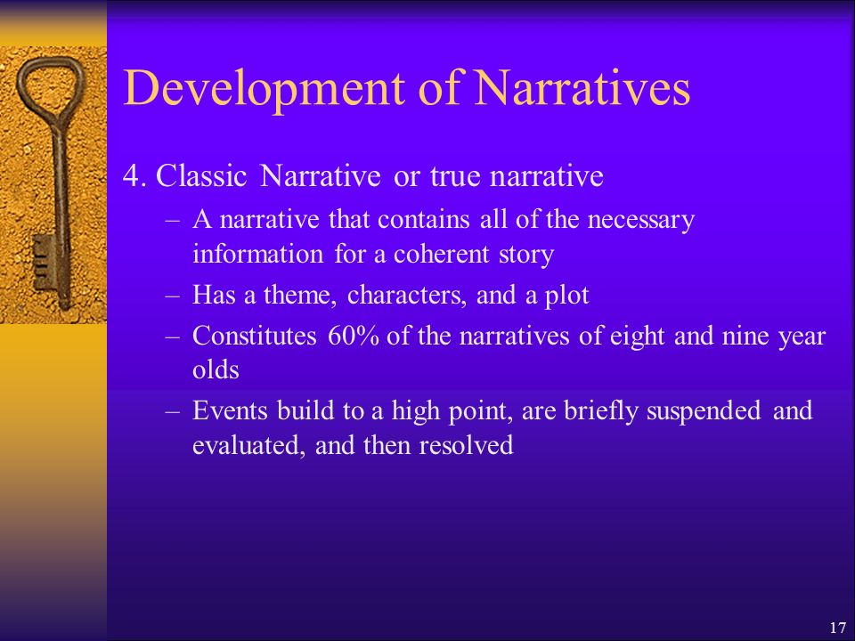 17 Development of Narratives 4.