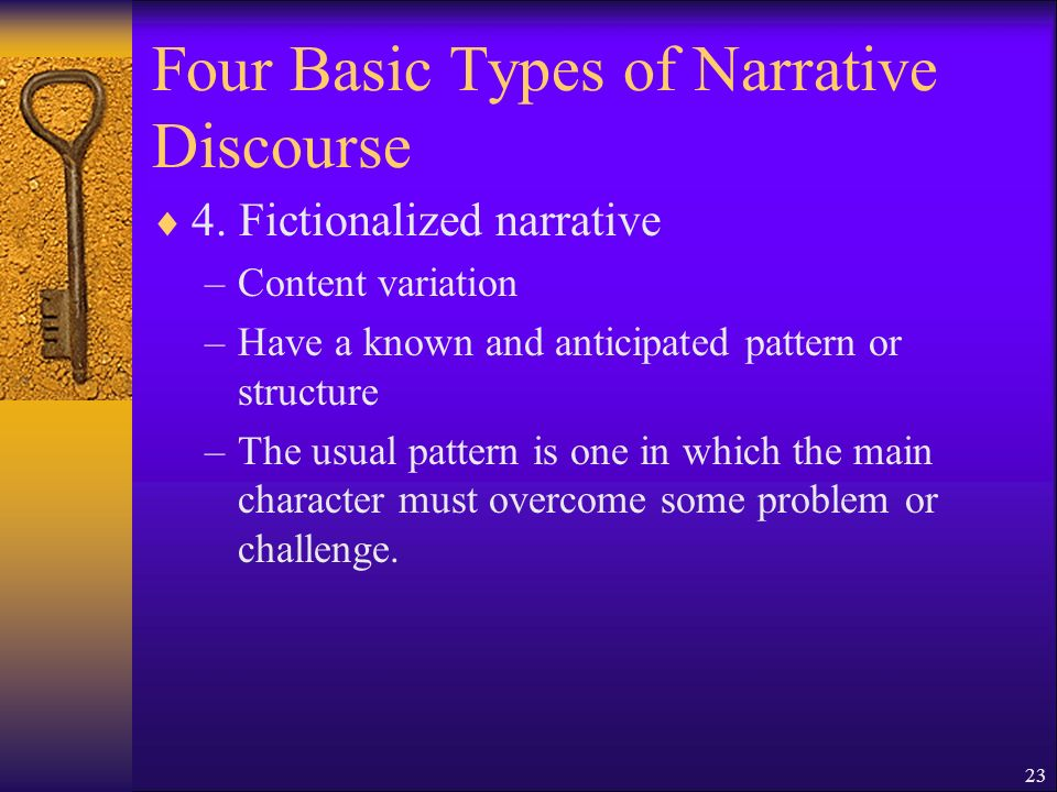 23 Four Basic Types of Narrative Discourse 4.