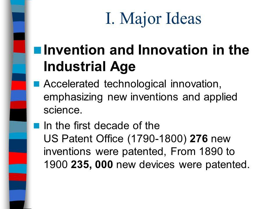 I. Major Ideas