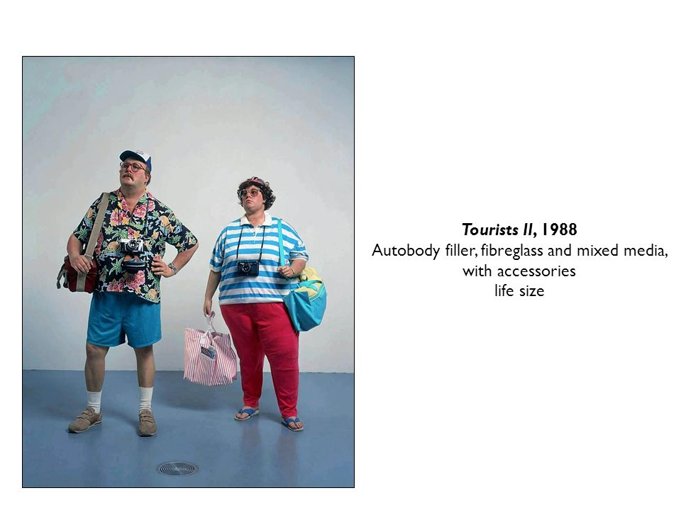 Tourists II, 1988 Autobody filler, fibreglass and mixed media, with accessories life size