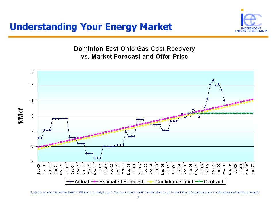 8 An EBay for Energy Independent Energy Consultants brings together the intelligence and tools to enable energy buyers to procure energy more efficiently - reducing cost and limiting risk.