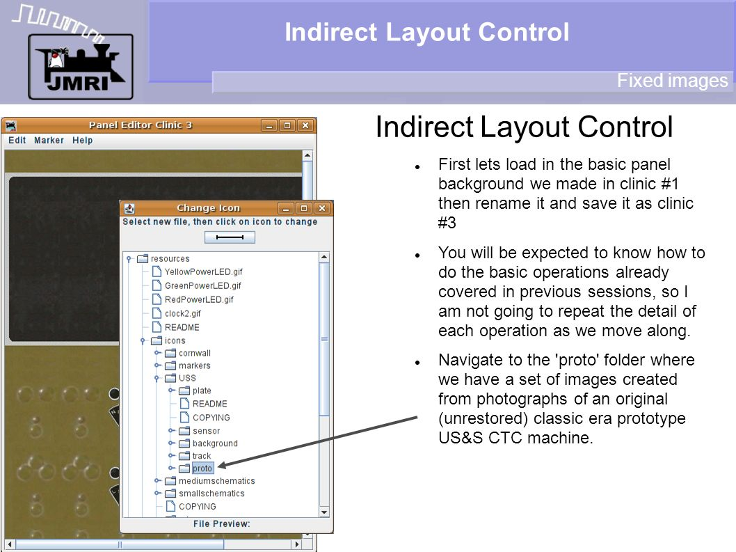 Indirect Layout Control Fixed images First lets load in the basic panel background we made in clinic #1 then rename it and save it as clinic #3 You will be expected to know how to do the basic operations already covered in previous sessions, so I am not going to repeat the detail of each operation as we move along.