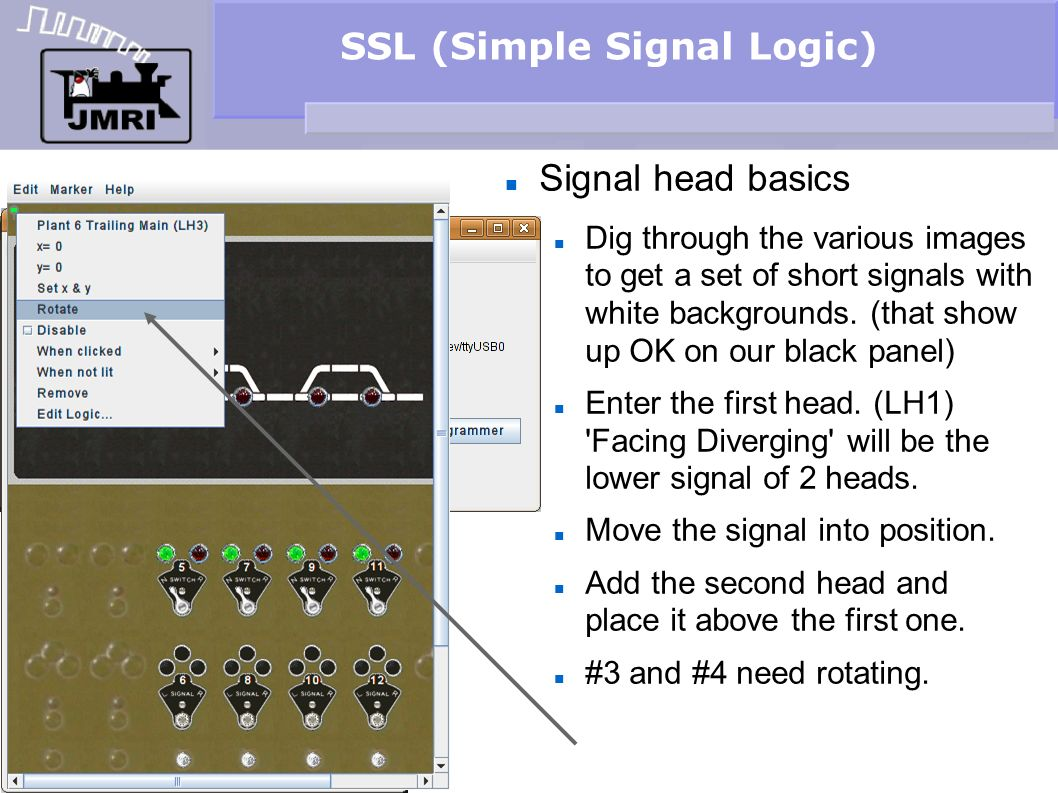SSL (Simple Signal Logic) Signal head basics Dig through the various images to get a set of short signals with white backgrounds. (that show up OK on