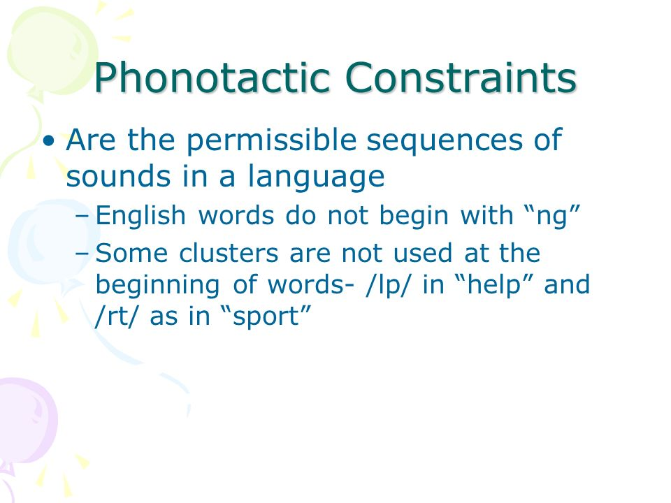 Suprasegmentals Are parts of the phonological system that extend beyond individual sounds.