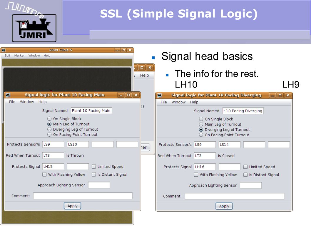 SSL (Simple Signal Logic) Signal head basics The info for the rest. LH10 LH9